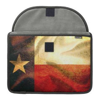 Texas Flag waving silk MacBook Pro Sleeve