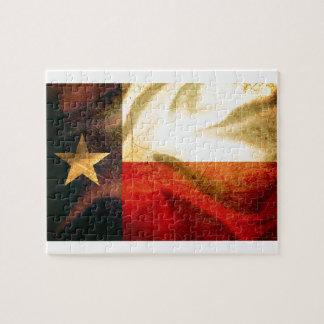 Texas Flag waving silk Puzzles
