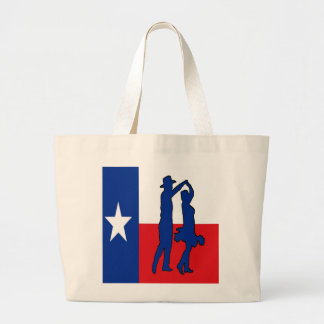 TEXAS FLAG WITH COUNTRY DANCERS  TOTE BAG