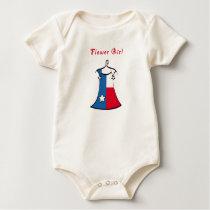 Texas Flower Girl Baby Bodysuit