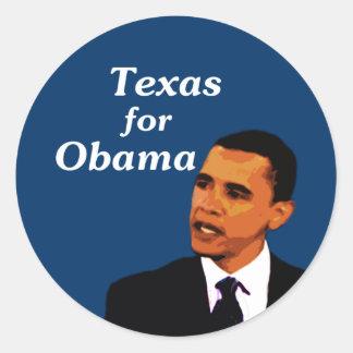 Texas for Barack Obama Classic Round Sticker