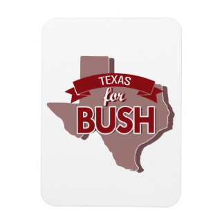 TEXAS FOR BUSH -.png Rectangular Photo Magnet