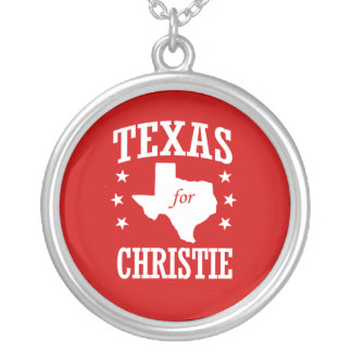 TEXAS FOR CHRISTIE ROUND PENDANT NECKLACE