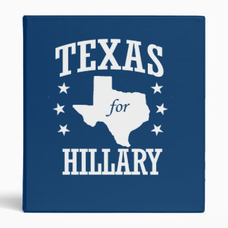 TEXAS FOR HILLARY 3 RING BINDER
