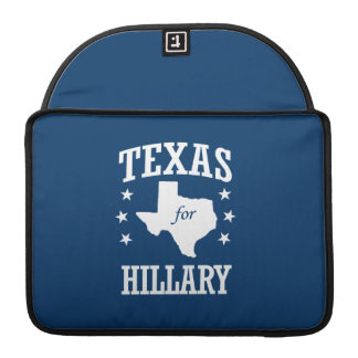 TEXAS FOR HILLARY SLEEVES FOR MacBook PRO