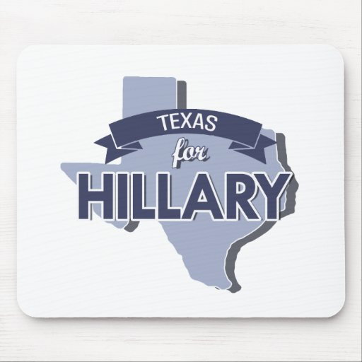 TEXAS FOR HILLARY -.png Mouse Pad