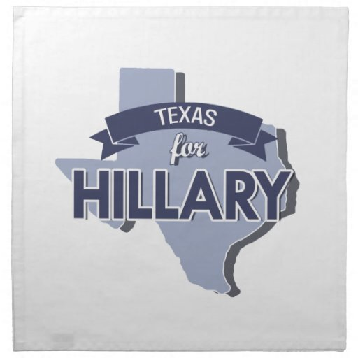 TEXAS FOR HILLARY -.png Napkin