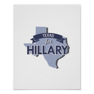 TEXAS FOR HILLARY -.png Print