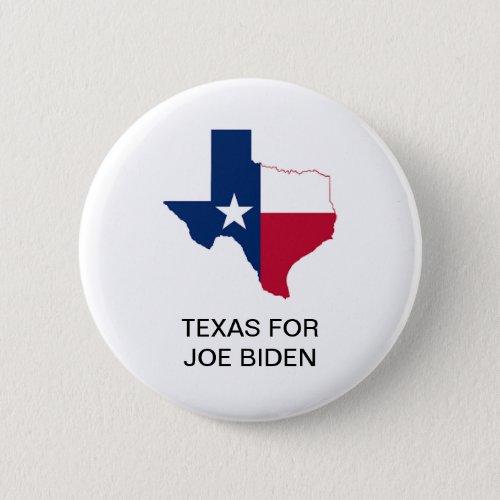 TEXAS for Joe Biden 2020 Presidential Button