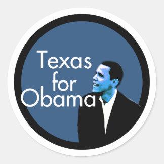 Texas For Obama Classic Round Sticker