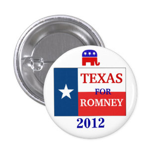Texas  for Romney 2012 Pinback Button