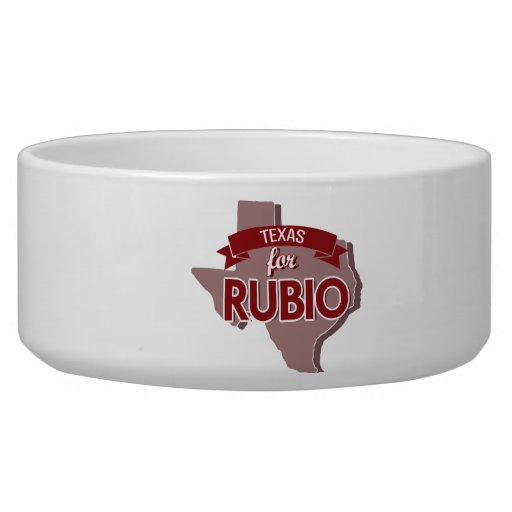 TEXAS FOR RUBIO -.png Dog Bowls