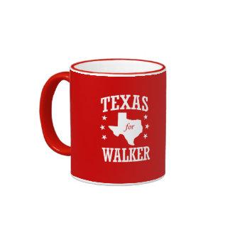 TEXAS FOR WALKER RINGER COFFEE MUG