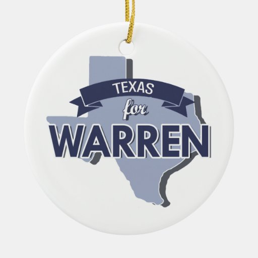 TEXAS FOR WARREN - 2016.png Christmas Tree Ornament