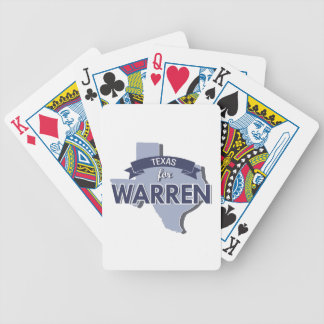 TEXAS FOR WARREN -.png Bicycle Poker Deck