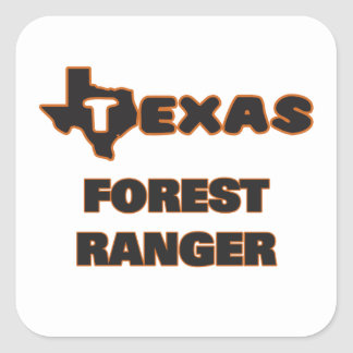 Texas Forest Ranger Square Sticker