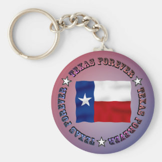 TEXAS FOREVER Circle Design - Mult_Products Key Chains