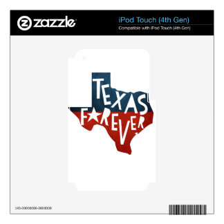 Texas Forever Decals For iPod Touch 4G