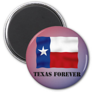 TEXAS FOREVER - Flag Text - Multi_Products Refrigerator Magnets