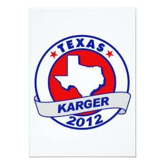 Texas Fred Karger 5x7 Paper Invitation Card