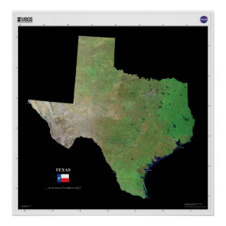 Texas From Space Poster