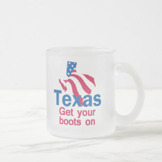 TEXAS FROSTED GLASS COFFEE MUG