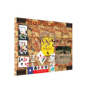 Texas Gambler Poker night Canvas Prints