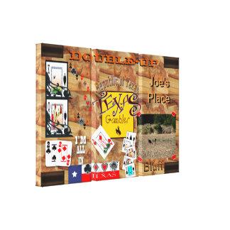 Texas Gambler Poker night panels Canvas Prints