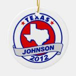 Texas Gary Johnson Christmas Tree Ornaments