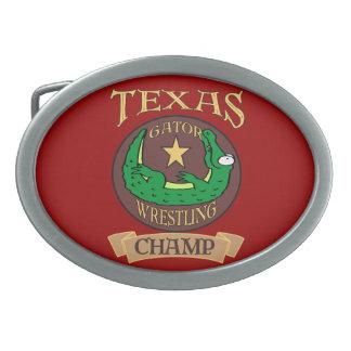 Texas Gator Champ Belt Buckle