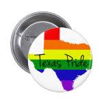 Texas Gay Pride Pinback Buttons