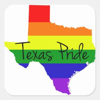 Texas Gay Pride Square Sticker
