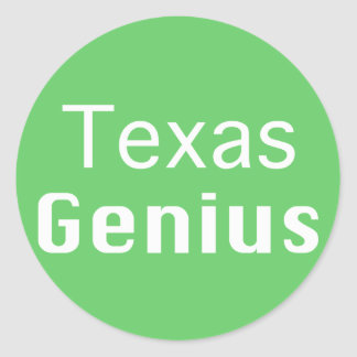 Texas Genius Gifts Classic Round Sticker