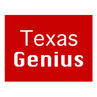 Texas Genius Gifts Postcard