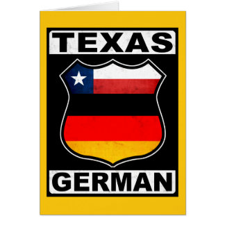 Texas German American Greeting Card