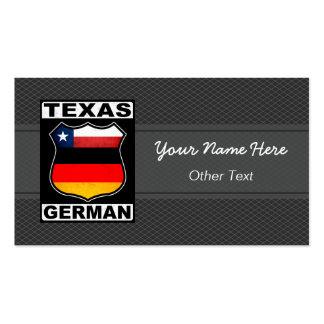 Texas German American Custom Business Cards