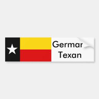 Texas German (Texasdeutsch) Flag Bumper Sticker