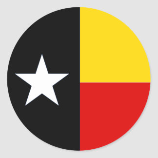 Texas German (Texasdeutsch) Flag Glossy Sticker