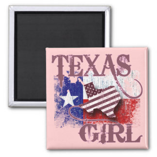 TEXAS GIRL 2 INCH SQUARE MAGNET