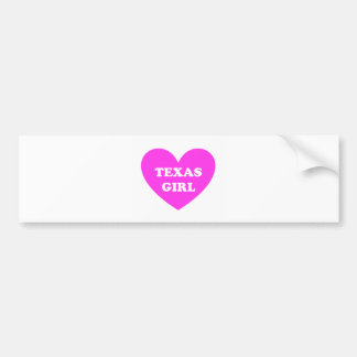 Texas Girl Bumper Sticker