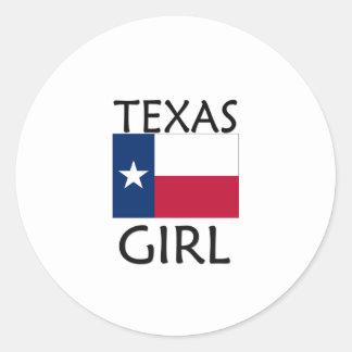 TEXAS GIRL CLASSIC ROUND STICKER