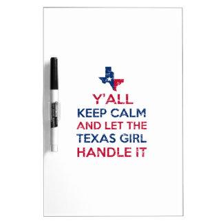 Texas Girl Tees Dry-Erase Board