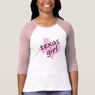 Texas Girl with Scribbled Texas Map T-shirt