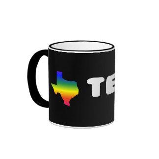 Texas GLBTQ Pride Coffee Mugs