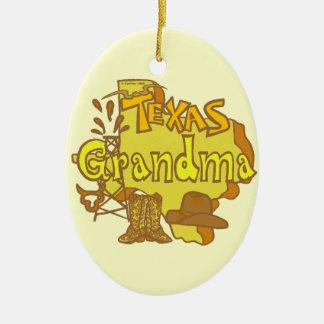 Texas Grandma Ceramic Ornament