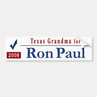 Texas Grandma for Ron Paul Car Bumper Sticker