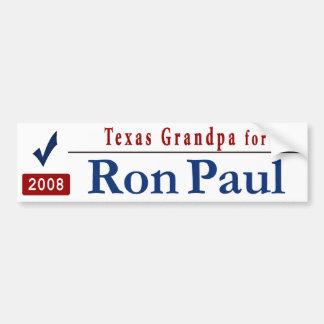 Texas Grandpa for Ron Paul Car Bumper Sticker