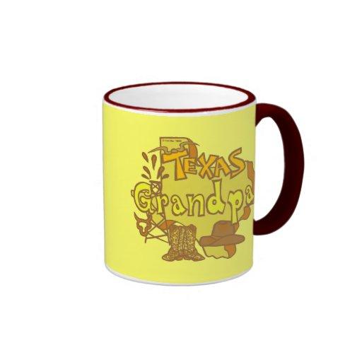 Texas Grandpa Ringer Coffee Mug