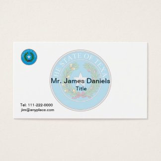 Texas Great Seal Business Card