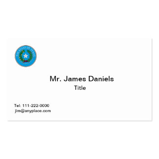Texas Great Seal Business Card Template